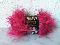 Lion Brand Yarn Fun Fur Polyester Eyelash Yarn - 1 Skein Color Raspberry #112