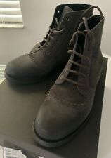 Bottega Veneta Hammer Boots US 8  EU 41 Dark Gray Leather Rubber Italy $810