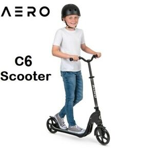 Kids Children Aero C6 Black Scooter Foldable with Adjustable Height & Portable