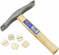 FOOTPRINT 138 Double Ended SCUTCH hammer  Hickory Handle bricklayers Masons UK