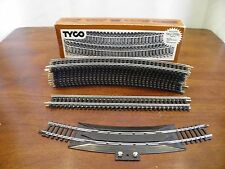 "HO Electric Train Track, TYCO - New ""Tru-Steel Track"" Lot of 14, NIB"