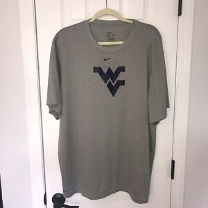 Nike Dri Fit West Virginia Mountaineers T Shirt XXL NCAA WVU
