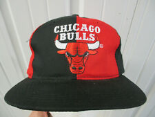 VINTAGE STARTER CHICAGO BULLS TWO TONE RED BLACK SNAPBACK CAP HAT NWOT DS 90S
