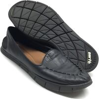 KALSO EARTH Womens Shoes Dally Black Soft Leather Light Slip On Loafer 7.5 7.5B