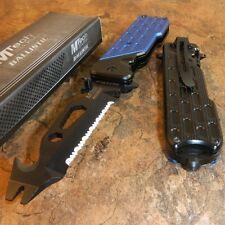 MTECH Spring Assisted BOTTLE OPENER Folding Pocket Knife Multi Tool BLUE