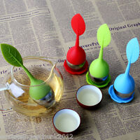Silicone Stainless Steel  Tea Strainer Teaspoon Infuser Ball Spice Filter BJ