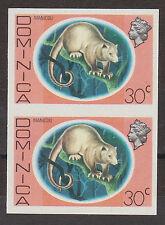 DOMINICA 1975 30c IMPERF PAIR SG 501var. MNH.