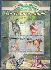 NIGER 2013 FAUNA OF AFRICA  BATS SHEET MINT NH