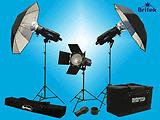 BRITEK,1000 WS 3 STROBE PORTRAIT KIT+CASES+DVD  599.00