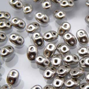 2x4mm 2 Hole Superduo Glass Seed Beads MiniDuo's 8 Grams aprox 160 beads U-Pick