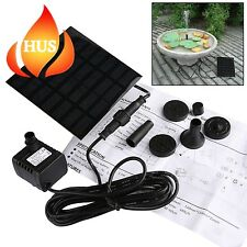 Solar Fountain Pump GOCHANGE Panel Pond Water Feature Submersible for...