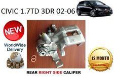HONDA CIVIC REAR BRAKE CALIPER 1.7 TD 3DR 02-06 NEW RIGHT 43018S6MA01