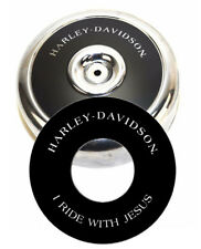 "Harley-Davidson I RIDE WITH JESUS 8"" Round Air Cleaner Filter Cover Insert Decal"