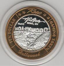 2001 Reno Hilton 11 of 12 HOLLYWOOD LE 1750 .999 Fine Silver $10 Casino Token