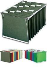 Steel Hanging File Folder Frame Letter Size Gray Tabs Organizer 2 Per Pack 64870