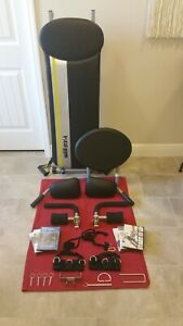Chuck Norris Total Gym FIT w/ Attachments, Ab Crunch, Wing Bar, 6 DVDs, MINT