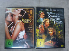 2 Filme Romeo & Julia & Ein Sommernachtstraum von William Shakespeares DVD