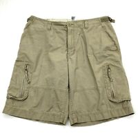 The North Face Men Khaki Adjustable Waist Shorts Cotton Hiking Outdoors Sz 36