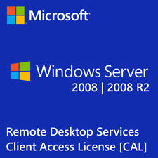 Windows Server 2008 | 2008 R2 Remote Desktop Services RDS 20 USER CAL License