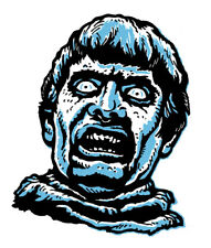 PLAGUE of the ZOMBIES • LARGE STICKER • Retro MANI-YACK MONSTER • HAMMER HORROR!