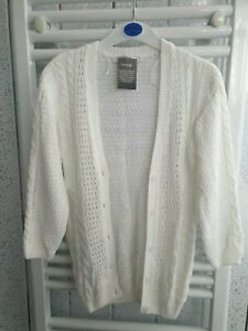Brand New Girls George Button Cardigan - White - 6-7 Years Old