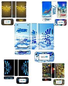 Zelda Skin Sticker Cover for Nintendo Wii U Console & Controller skins