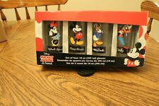 Mickey Mouse and friends 4 Glass Tumblers