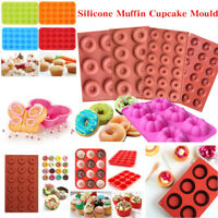 Silicone Muffin Donut Mold Cupcake Chocolate Candy Bakeware Tray Baking Mold Pan