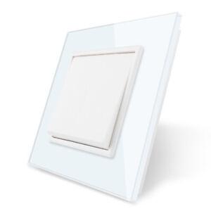 Livolo Push Reset Schalter Türklingel Schalter Kristallglasscheibe WEISS