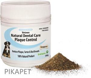 Vetnex Plaque Control Natural Dental Care Powder Kangaroo For Dogs 100g Sale