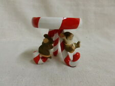 Charming Tails Candy Cane Pillar Candleholder 93/422 Christmas Mouse New In Box