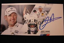 Card BMW Motorsport Team RBM Crown Plaza Hotels DTM 2014 #4 Joey Hand (USA) Sign