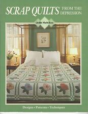 New Quilts Made Easy 199123 Book Scrap Quilts from the Depression SC 48 Pages
