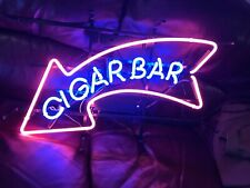 "New Cigar Bar Neon Light Sign 24""x20"" Lamp Poster Real Glass Beer Bar"