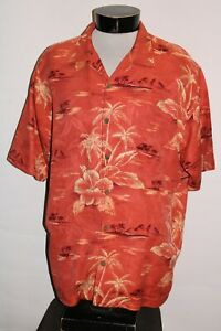 TOMMY BAHAMA Mens Large L 100%Silk Button-up shirt Combine ship Discount