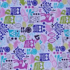 Forest Life Animals fabric by Michael Miller - CLEARANCE!