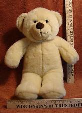 Build a Bear Workshop Creamy White And Brown Teddy Bear Stuffed Plush Toy Nice!