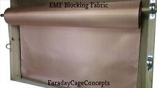 RFID Blocking, Cell Signal Blocking, WIFI Blocking Nickel/ Copper Fabric. 43x1'