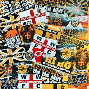 100 x Wolves Stickers inspired by Molineux Shirt Scarf Badge Flag Cap WWFC