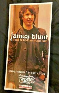 James Blunt Silkscreen Concert Poster ORIGINAL 10//6/06 Tweeter Center