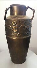 WMF Rare superb large vase brass Art nouveau jugendstil signed
