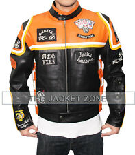 Harley Davidson Mickey Rourke Biker Leather Jacket With Free Shipping