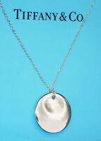 Tiffany & Co Sterling Silver Chain Necklace Elsa Peretti Round Charm Pendant