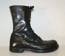 "Corcoran Mens 10"" Jump Boots Sz 10.5 D Cap Toe Tactical Military Black Leather"