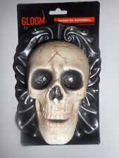 Halloween Animated Skeleton Doorbell Eyes Light Up Red and It Talks New