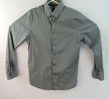 Express 1MX Mens Dress Shirt Size Medium 15 15.5 Fitted Gray Long Sleeve