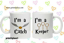16 Harry Potter quiditch his and hers mug valentines / christmas day gift