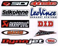 Motorcycle Colour Laminated Swingarm Frame Stickers  MX Sport 1 x sheet Set Two