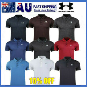 AU STOCK 2021 NEW Under Armour Mens UA Golf Sports Polo Shirt Smooth Shirts Tops