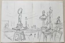 Alberto Giacometti Studio with Sculptures 159 Derriere Le Miroir 1961 Lithograph